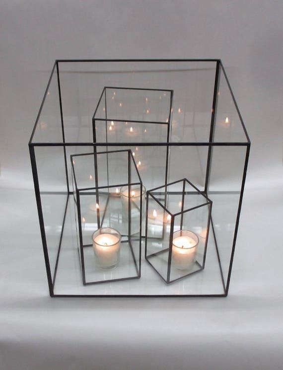 Glazen Kubus Met Foto.Een 12 Inch Glazen Kubus Met Inbegrip Van De 3 Pc Orkaan Instellen