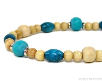 Wood beads bracelet woman bracelet man bracelet natutal bracelet gift beaded jewelry wood bracelet womens gift stretch bracelet BB-08-08