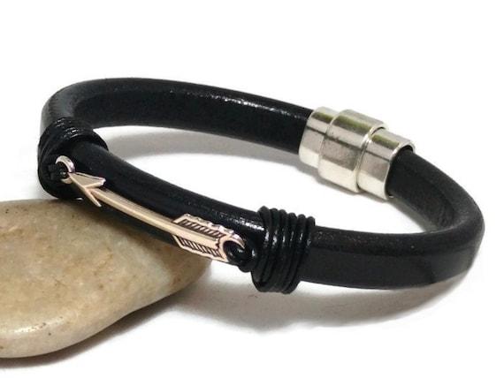 Arrow Bracelet Mens Leather Bracelet Womens Leather Bracelet Etsy