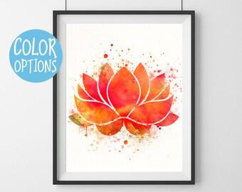 Lotus flower art - colorful- Lotus flower- yoga studio