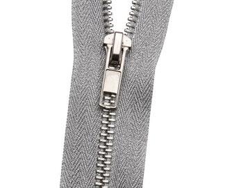 ad09777786da Metal No. 5 Silver Lurex Zipper