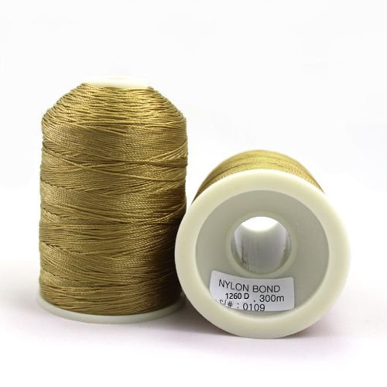 SHK Heavy Bonded Nylon Thread Mustard
