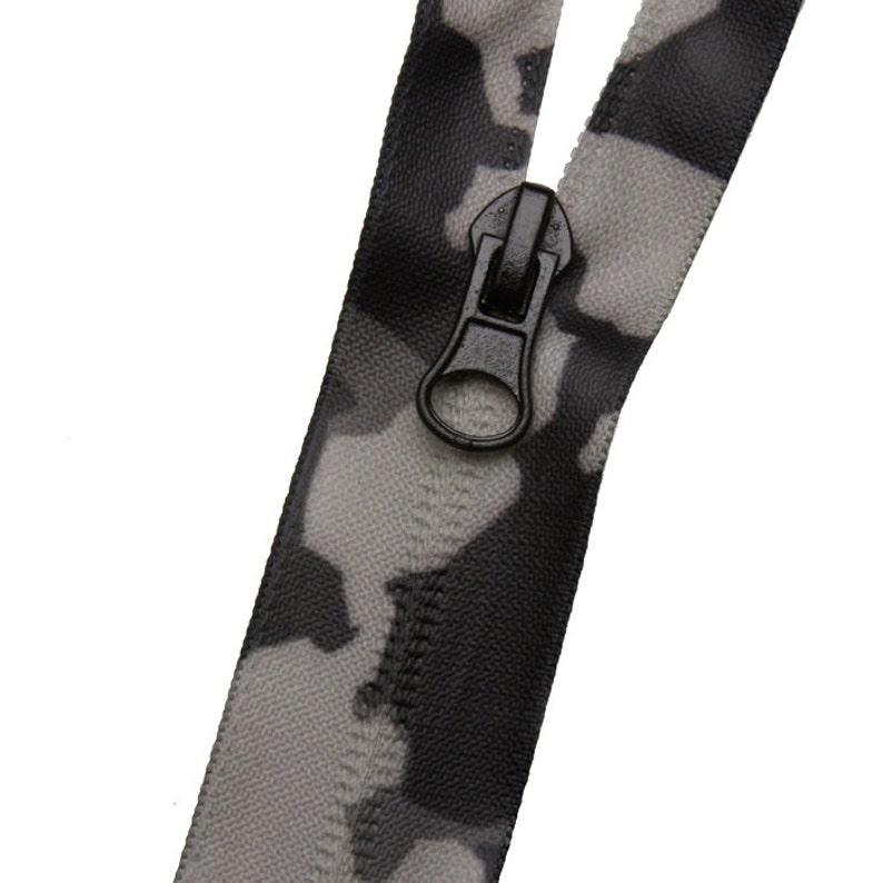 Invisible Waterproof Zipper #5 Camo Gray
