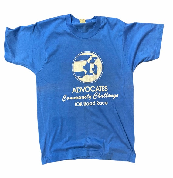 Vintage 80s running Framingham t-shirt screen star