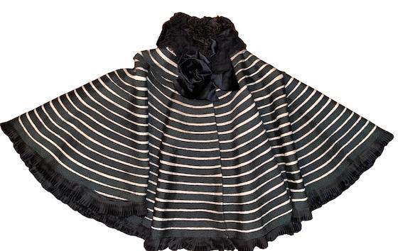 Victorian capelet high ruffled neck cape shawl