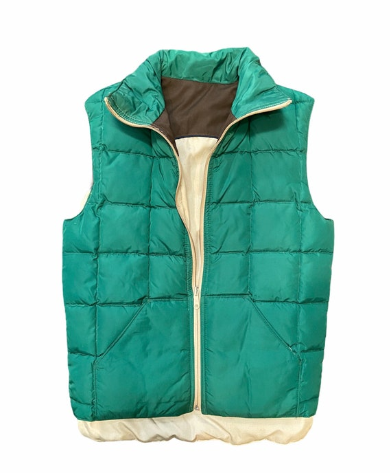 Vintage down filled quilted puffer vest