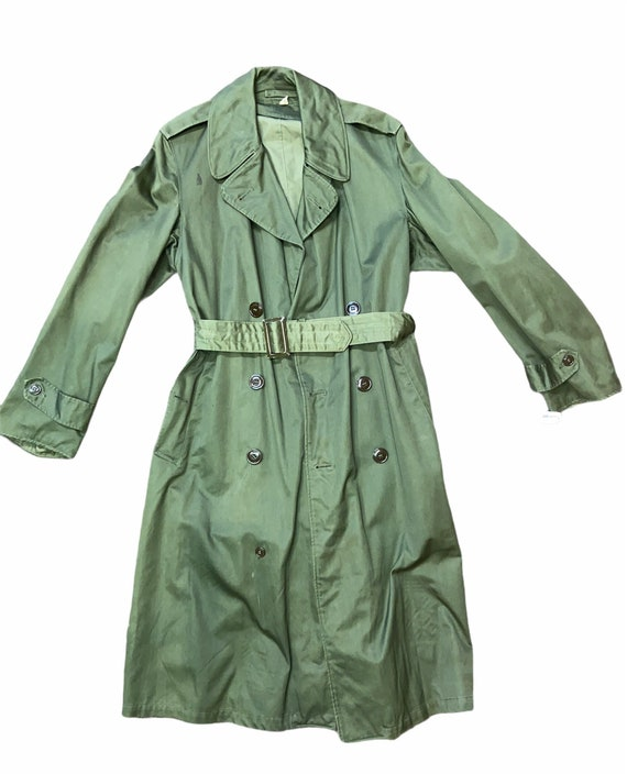 Vintage 50's Military OG 107 trench coat