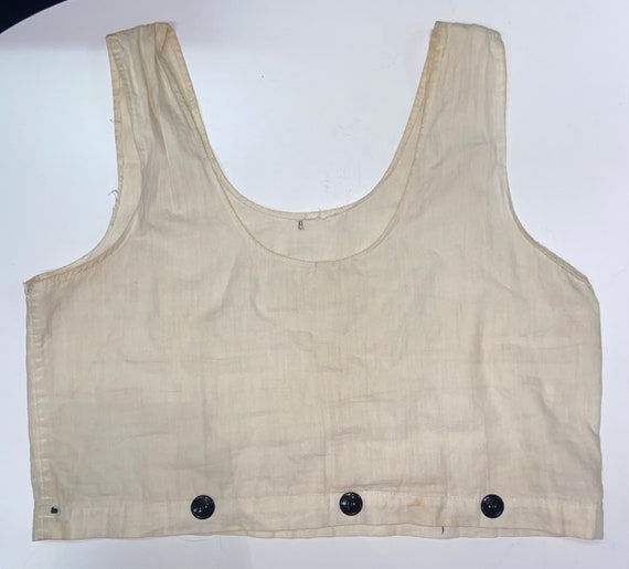 Antique tank camisole cropped style top