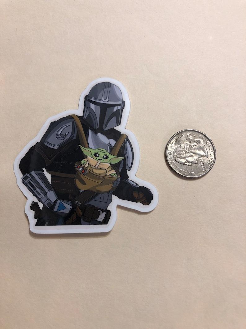 Mando and the child sticker