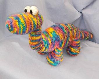 Hand knitted Brontosaurus