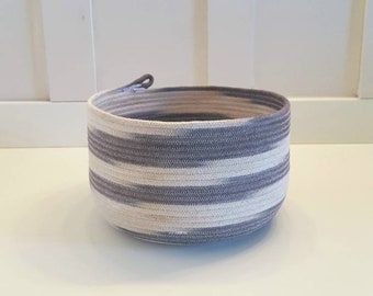 Dip Dyed Black and White Rope Pot