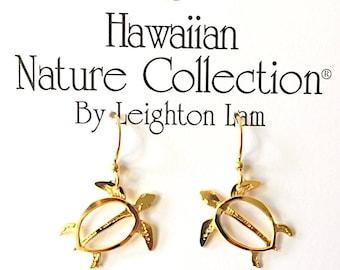 Hawaiian Sea Turtle Earrings