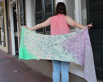 Voodoo Magic Shawl PATTERN, Knitting Pattern, INSTANT DOWNLOAD