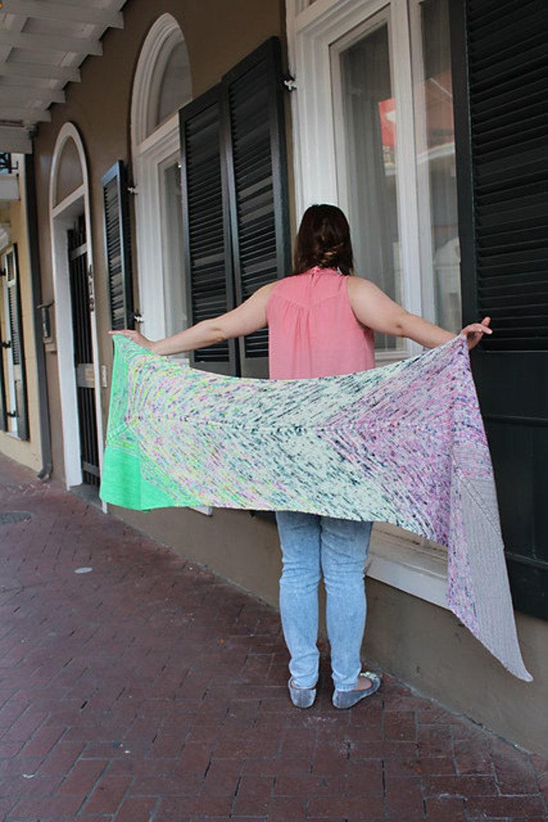 Voodoo Magic Shawl PATTERN Knitting Pattern INSTANT DOWNLOAD image 0