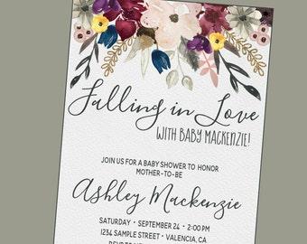 Fall Baby Shower Invitations Etsy