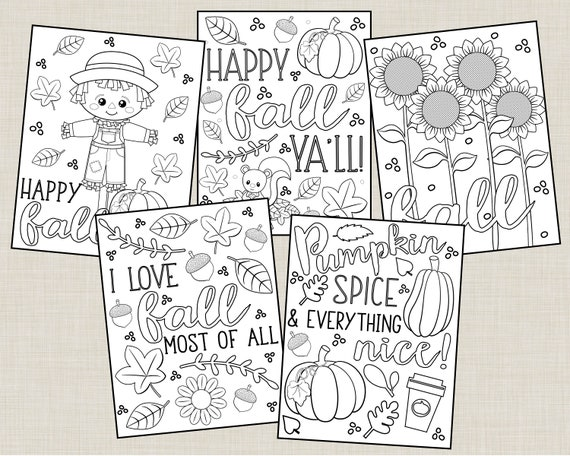 Printable Fall Coloring Pages For Kids Or Adults Autumn