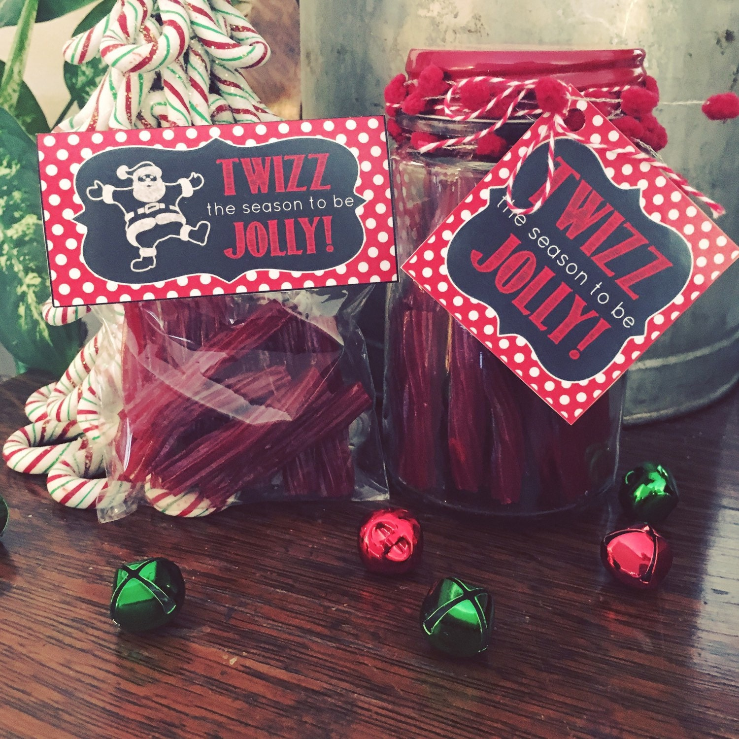 Twizz The Season Twizzler Themed Christmas Gift Tag And Bag Etsy