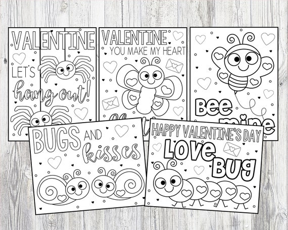 Printable Love Bug Valentine's Day Coloring Pages For Kids