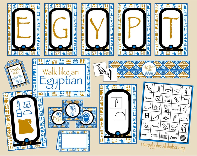 Egypt Party Decorations Mini Package Perfect For Egypt Lesson Etsy