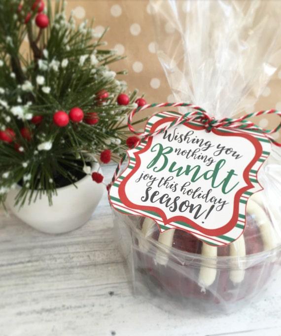 Christmas Bundt Cake Tags. Wishing You Nothing Bundt Joy