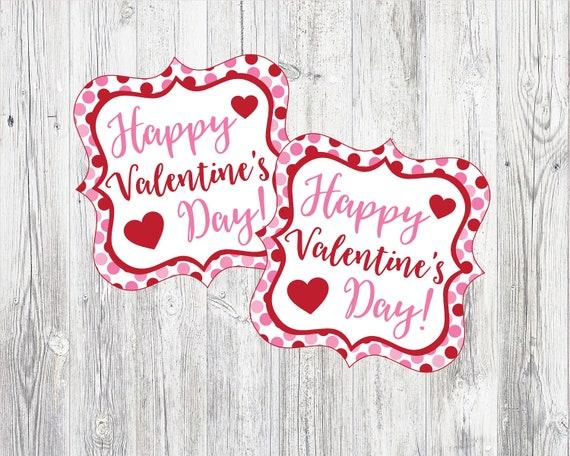Happy Valentine's Day Tags. Printable Valentine's Day