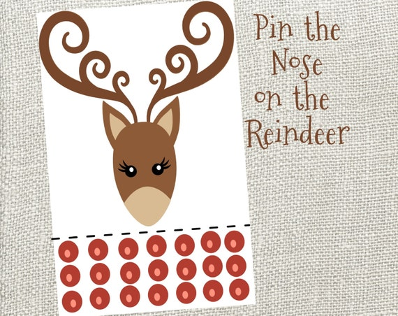 photograph regarding Pin the Nose on the Reindeer Printable referred to as Pin The Nose Upon The Reindeer! Immediate Electronic Down load. Xmas Get together Sport. Reindeer Online games. Printable Reindeer Match.