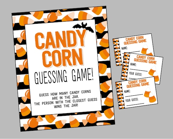 Candy Corn Guessing Game. Printable Guess How Many Candy Corns