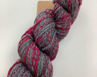 Handspun Yarn - Ashland Bay-Corriedale Sari Silk DK weight.