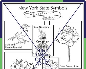 New York State Symbol Coloring Page Download