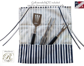 Barbecue Tool Grill Wrap/Barbecue/Grill/cover/Wrap/Storage/Outdoor Storage. Gold\Tan. Rust. Navy blue/\White stripe.Utensils,  barbecue.