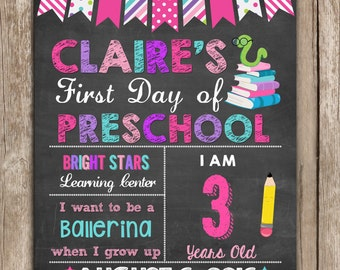 First Day of School Chalkboard, First Day of School sign, ANY GRADE , Back to School Chalkboard Sign, 1st Day of School Printable Sign