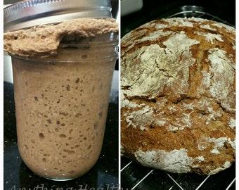 Traditional 100% RYE sourdough bread starter probiotic culture