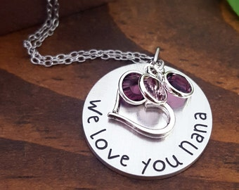 Nana Necklace | Grandmother Necklaces | Grandmother Gift | Nana Gifts | Nana Necklaces | Grandmother Necklace | Gift For Nana | Nanny Gifts