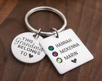 Birthstone Keychains | Grandma Keychain | Grandma Gift | Grandma belongs to | Gift For Grandma | Gifts For Grandma | Grandma Gifts | Grandma
