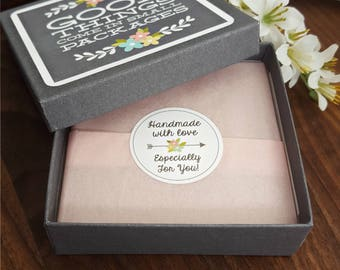 Gift Wrap My Item | Good Things Come In Small Packages Gift Box | Floral Grey Box Gift Wrap | Birthday Gift Wrap | Sweet 16 Gift Box - BB2