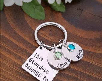 Grandma Gift   Grandmother Gift   Grandma Keychain   New Grandma Gift   New Mom Gift   Grandma belongs to   Personalized Gifts For Grandma