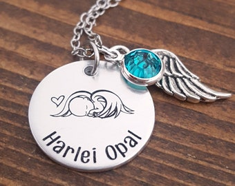 Angel Baby Necklace | Baby Remembrance Gifts | Infant loss Gift | Baby Bereavement Necklace | Newborn Memorial Necklace | Angel Baby Gifts
