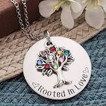Family Tree Birthstone Necklace | Birthstone Necklace For Mom | Rooted In Love | Birthstone Tree Necklace | Family Tree Necklace | Mom Gifts