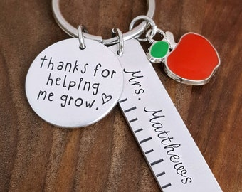 Teacher Appreciation Gift | Teacher Gifts | Teacher Appreciation Week | Teacher Key Chain | Teacher Keychain | End Of Year Gift For Teacher