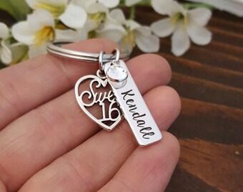 Sweet 16 Key Chain