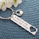A Piece Of My Heart Has Wings™ keychain | Loss Of Loved One Gift | Memorial Keychain | Loss of Father | Loss Of Mother | Sympathy Keychain