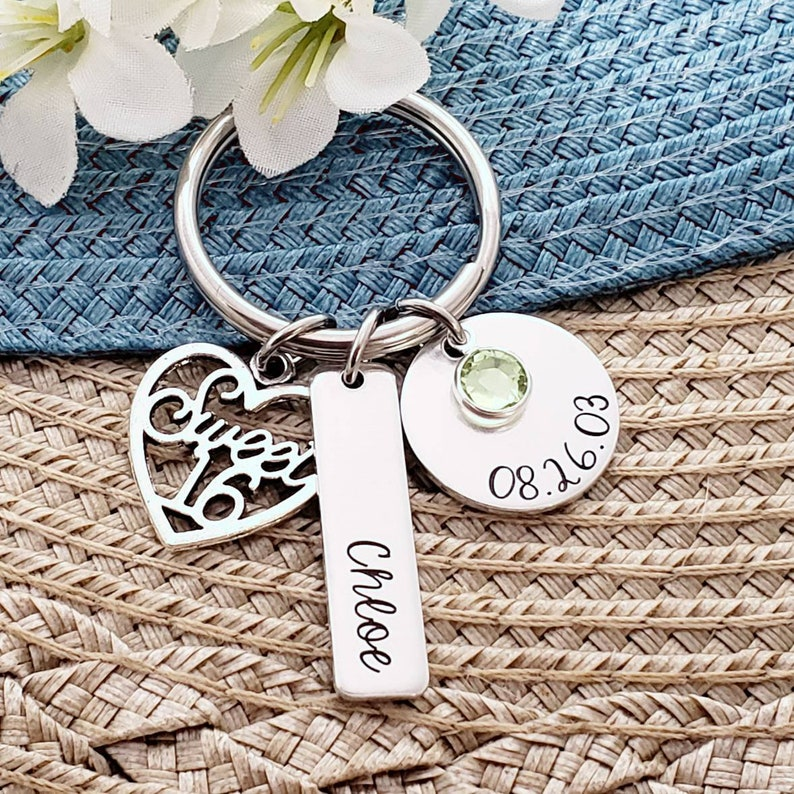 Sweet 16 Keychain  16th Birthday Gift  Personalized Sweet 16 image 0