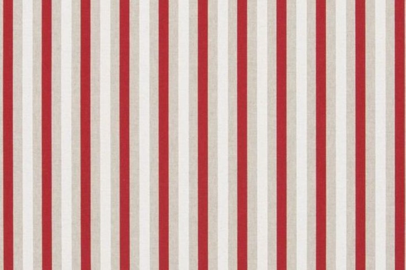 Christmas fabric Home decor fabric craft applications Striped red fabric Fabric by the yard COTTON fabric