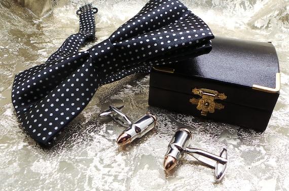 Shogun Cartridge Silver and Gold Cufflinks Luxury Set Wooden Case for Shooting Hunting Gifts 12 Gauge firearms Guns Gun Deer Clay Pigeon