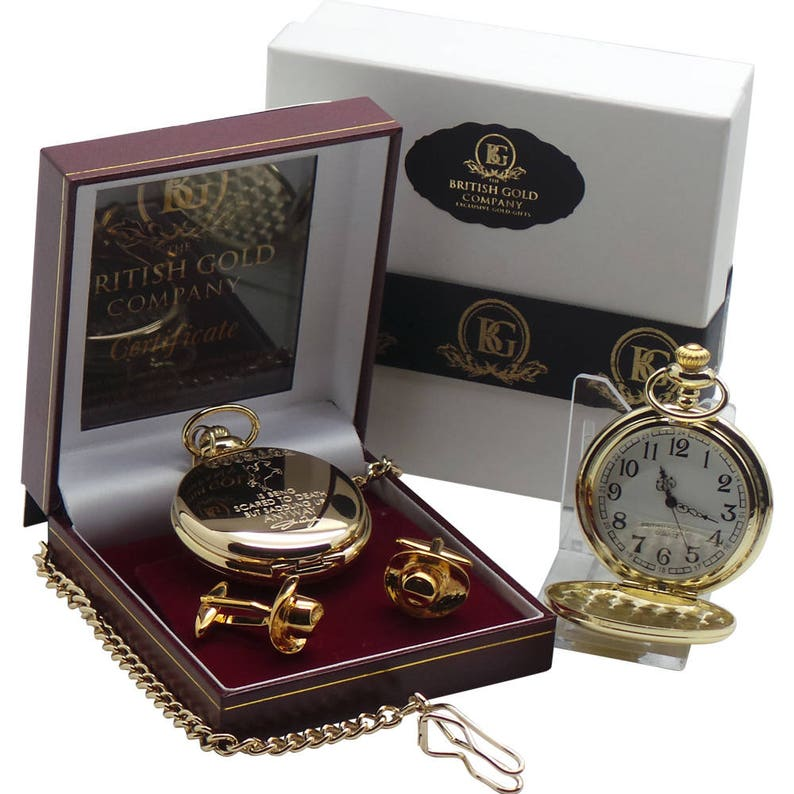 9590aa6db John Wayne 24k Clad Gold Pocket Watch Cowboy Hat Cufflinks Luxury Gift Case  with Certificate Engraved Quote Autographed Signed Movie Fans