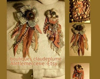 2 application customisation leather feathers