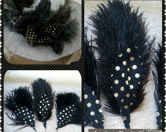 3 pegs hats leaves leather & feathers