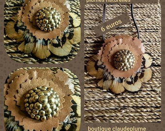 Leather & feathers flowers