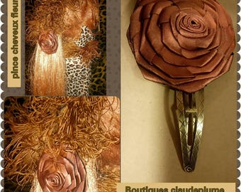 Bronze or Gold Flower hair clip