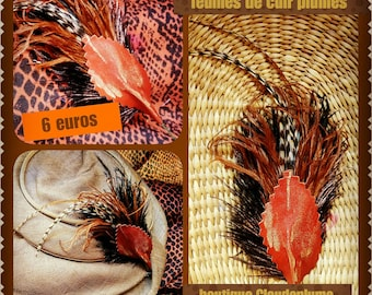 Spike feathers leather sheet